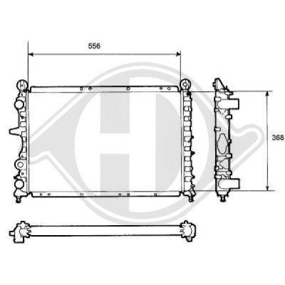 Radiateur, refroidissement du moteur - Diederichs Germany - 8109134