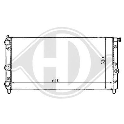 Radiateur, refroidissement du moteur - HDK-Germany - 77HDK8109135