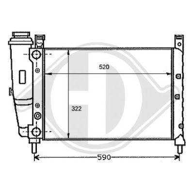 Radiateur, refroidissement du moteur - Diederichs Germany - 8109137