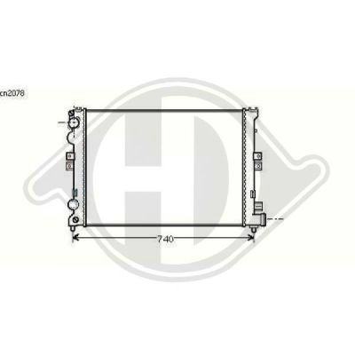 Radiateur, refroidissement du moteur - Diederichs Germany - 8109142