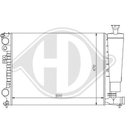 Radiateur, refroidissement du moteur - HDK-Germany - 77HDK8109143