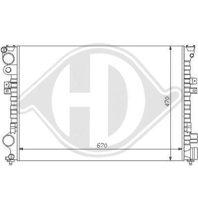 Radiateur, refroidissement du moteur - Diederichs Germany - 8109144