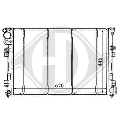 Radiateur, refroidissement du moteur - Diederichs Germany - 8109146