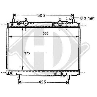 Radiateur, refroidissement du moteur - Diederichs Germany - 8109148