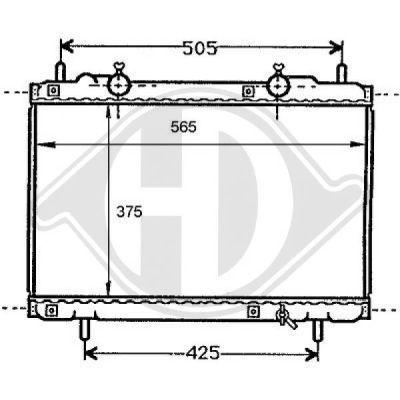 Radiateur, refroidissement du moteur - Diederichs Germany - 8109149