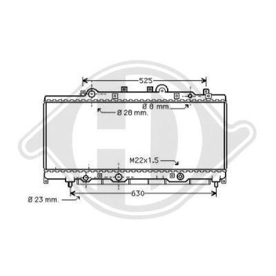 Radiateur, refroidissement du moteur - Diederichs Germany - 8109152
