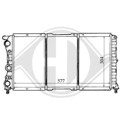 Radiateur, refroidissement du moteur - Diederichs Germany - 8109153