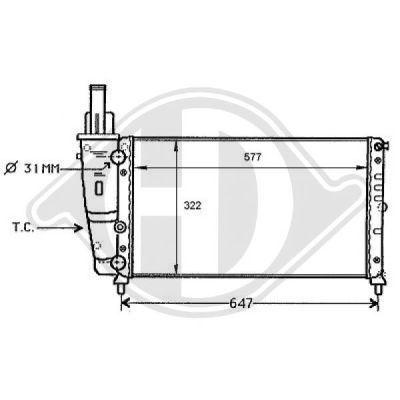 Radiateur, refroidissement du moteur - Diederichs Germany - 8109154