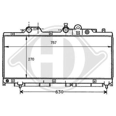 Radiateur, refroidissement du moteur - HDK-Germany - 77HDK8109155