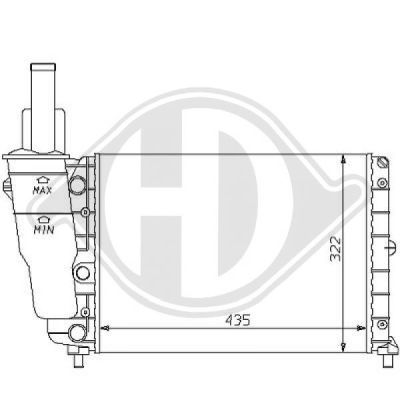 Radiateur, refroidissement du moteur - HDK-Germany - 77HDK8109156