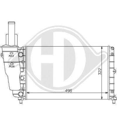 Radiateur, refroidissement du moteur - HDK-Germany - 77HDK8109157