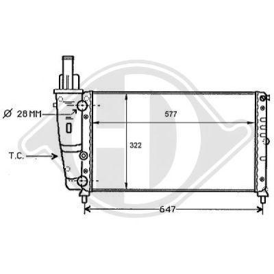 Radiateur, refroidissement du moteur - Diederichs Germany - 8109158