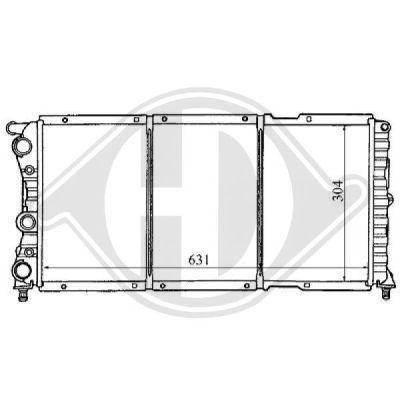 Radiateur, refroidissement du moteur - Diederichs Germany - 8109162