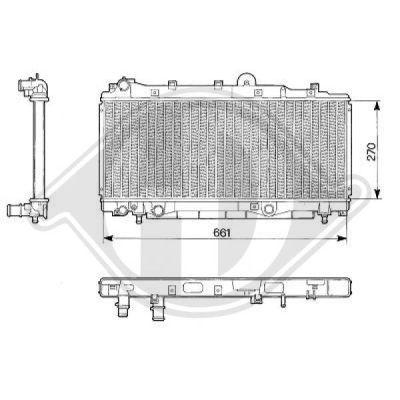 Radiateur, refroidissement du moteur - Diederichs Germany - 8109164