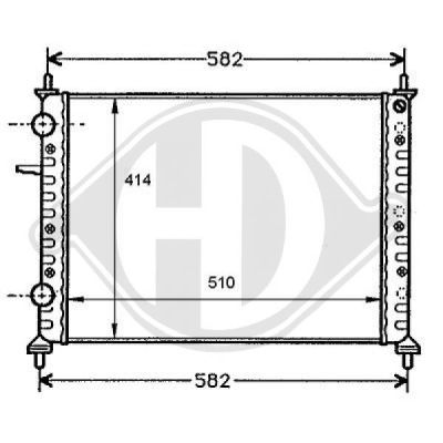 Radiateur, refroidissement du moteur - HDK-Germany - 77HDK8109178