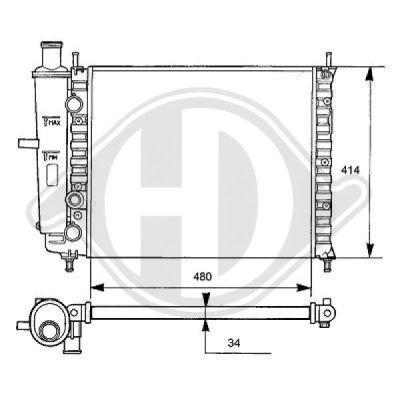 Radiateur, refroidissement du moteur - Diederichs Germany - 8109181