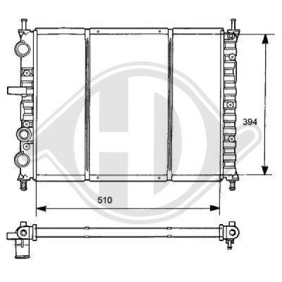 Radiateur, refroidissement du moteur - Diederichs Germany - 8109182