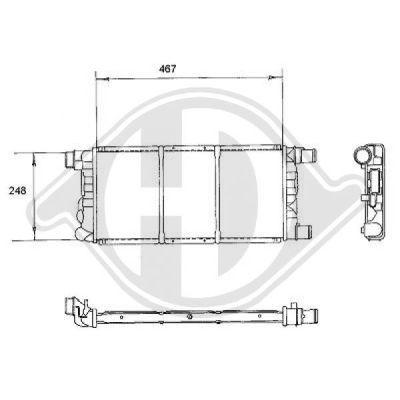 Radiateur, refroidissement du moteur - Diederichs Germany - 8109185