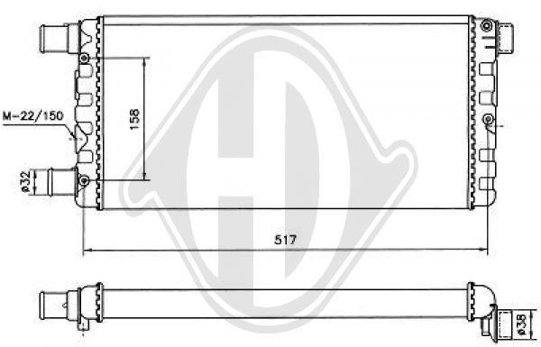 Radiateur, refroidissement du moteur - Diederichs Germany - 8109186