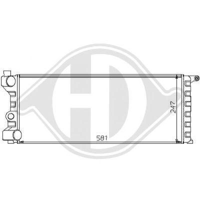 Radiateur, refroidissement du moteur - Diederichs Germany - 8109187