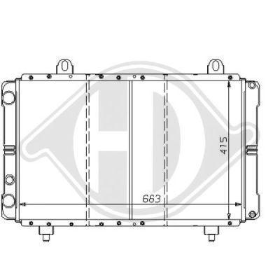 Radiateur, refroidissement du moteur - Diederichs Germany - 8109190