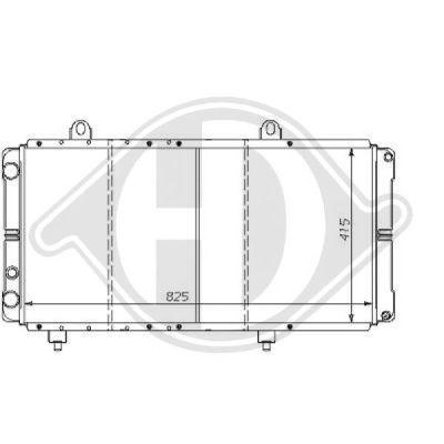Radiateur, refroidissement du moteur - Diederichs Germany - 8109191