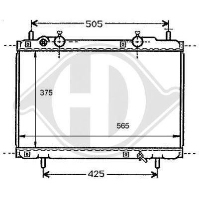 Radiateur, refroidissement du moteur - Diederichs Germany - 8109194