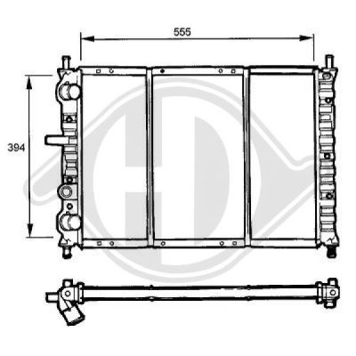 Radiateur, refroidissement du moteur - HDK-Germany - 77HDK8109195