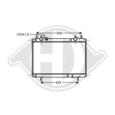Radiateur, refroidissement du moteur - Diederichs Germany - 8109202