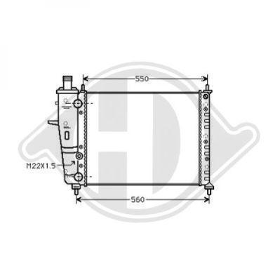 Radiateur, refroidissement du moteur - Diederichs Germany - 8109203
