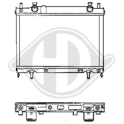 Radiateur, refroidissement du moteur - Diederichs Germany - 8109204