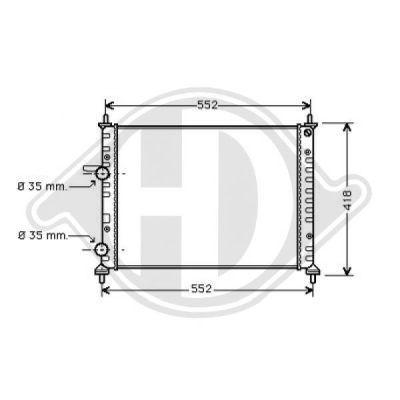 Radiateur, refroidissement du moteur - Diederichs Germany - 8109205