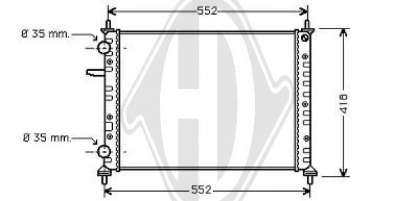 Radiateur, refroidissement du moteur - Diederichs Germany - 8109206