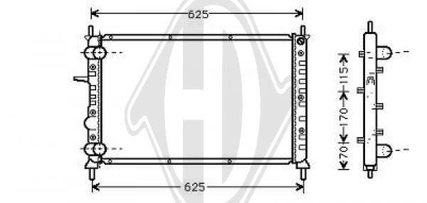 Radiateur, refroidissement du moteur - Diederichs Germany - 8109207