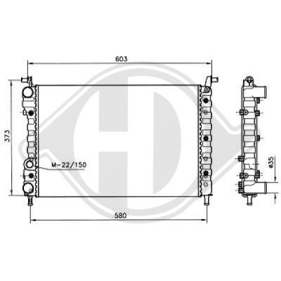 Radiateur, refroidissement du moteur - HDK-Germany - 77HDK8109208