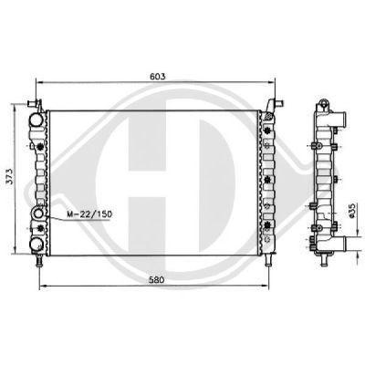 Radiateur, refroidissement du moteur - Diederichs Germany - 8109209