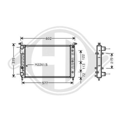 Radiateur, refroidissement du moteur - Diederichs Germany - 8109210