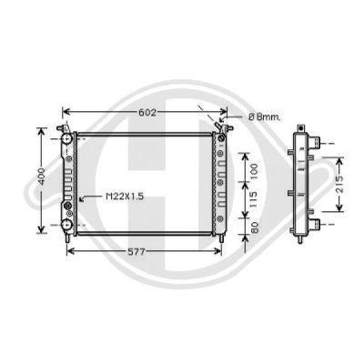 Radiateur, refroidissement du moteur - Diederichs Germany - 8109211
