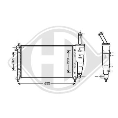 Radiateur, refroidissement du moteur - HDK-Germany - 77HDK8109214