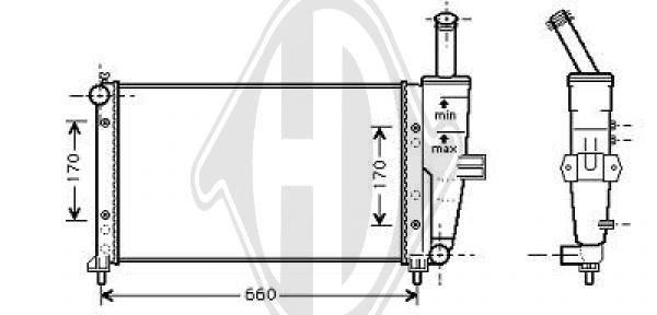 Radiateur, refroidissement du moteur - Diederichs Germany - 8109215