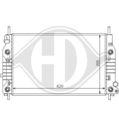 Radiateur, refroidissement du moteur - Diederichs Germany - 8110115
