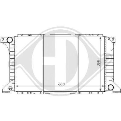 Radiateur, refroidissement du moteur - Diederichs Germany - 8110171