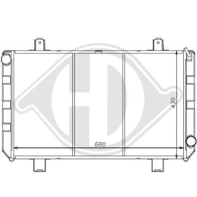 Radiateur, refroidissement du moteur - HDK-Germany - 77HDK8110177