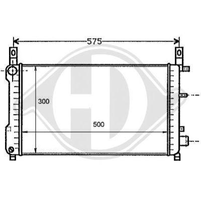 Radiateur, refroidissement du moteur - HDK-Germany - 77HDK8110183