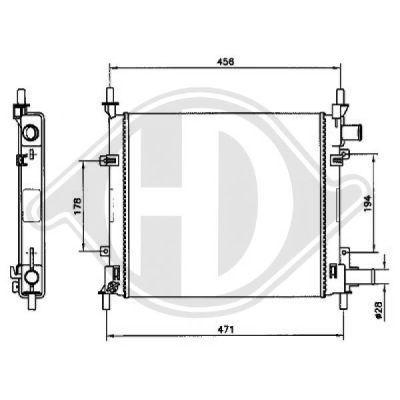 Radiateur, refroidissement du moteur - Diederichs Germany - 8110189