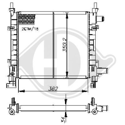 Radiateur, refroidissement du moteur - HDK-Germany - 77HDK8110190