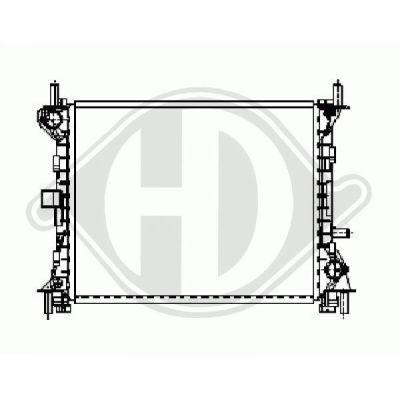 Radiateur, refroidissement du moteur - HDK-Germany - 77HDK8110198