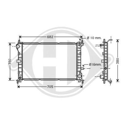 Radiateur, refroidissement du moteur - HDK-Germany - 77HDK8110199