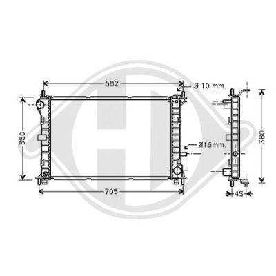 Radiateur, refroidissement du moteur - Diederichs Germany - 8110200