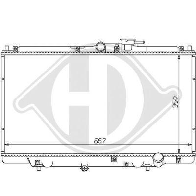 Radiateur, refroidissement du moteur - Diederichs Germany - 8111101